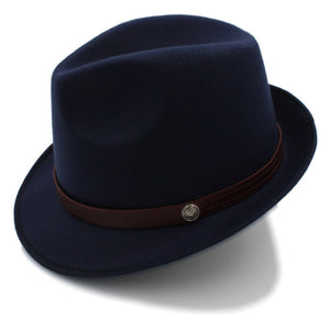 Trilby Hat with brown leather strap