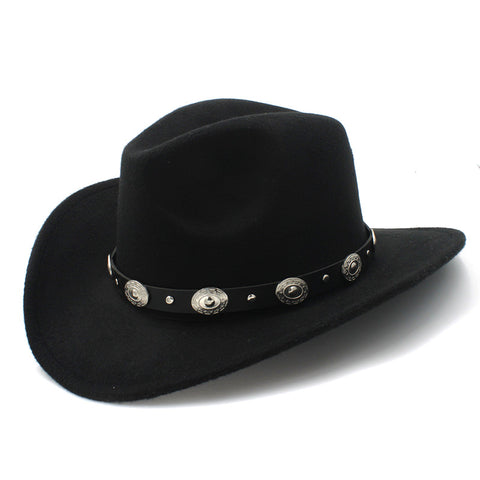 Western Hat with Leather vintage strap