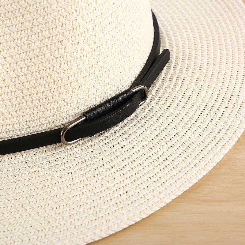 Panama Hat with thin leather strap