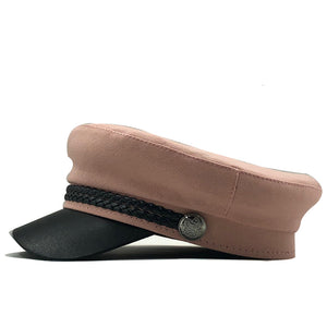 Captain Cap with leather strap