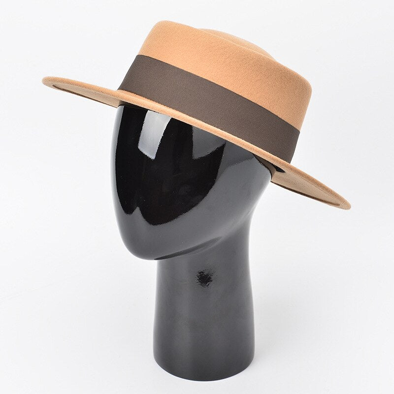Australian wool wide brim with ribbon