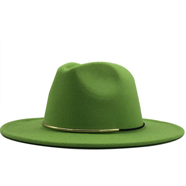 Fedora Hat with metal and leather cord
