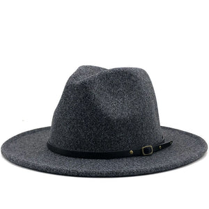 Felt Fedora with minimal leather strap