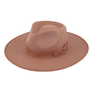 Australian wool fedora with ribbon