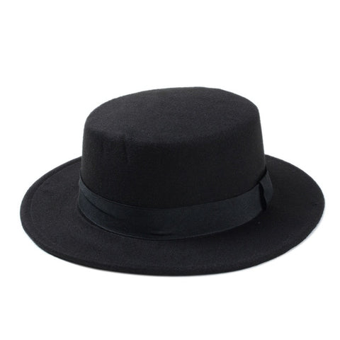 Flat Top Fedora Hat (10 colors)