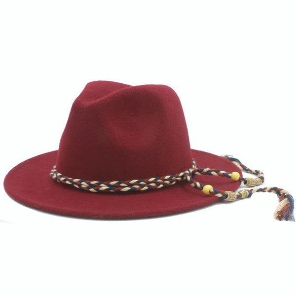Wool Wide Brim Jazz Fedora