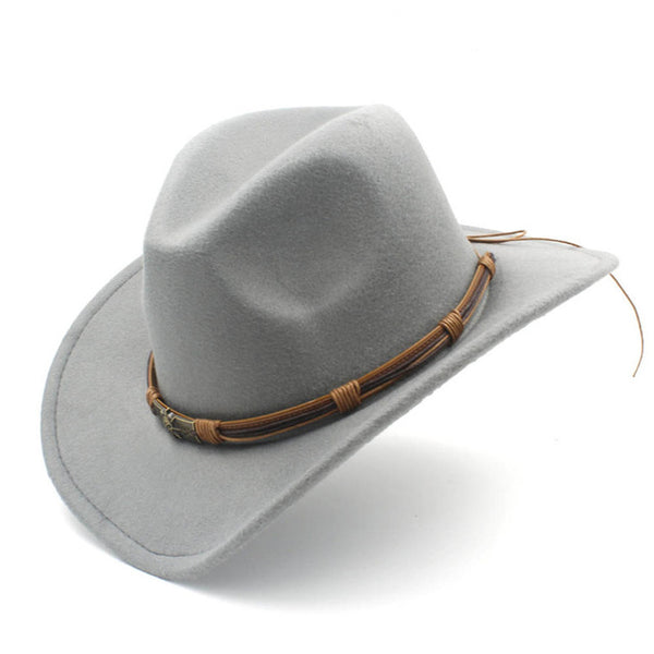 Cowboy Hat With Double vintage leather strap (9 colors)