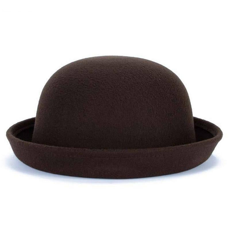 Straight Brim Bowler hat