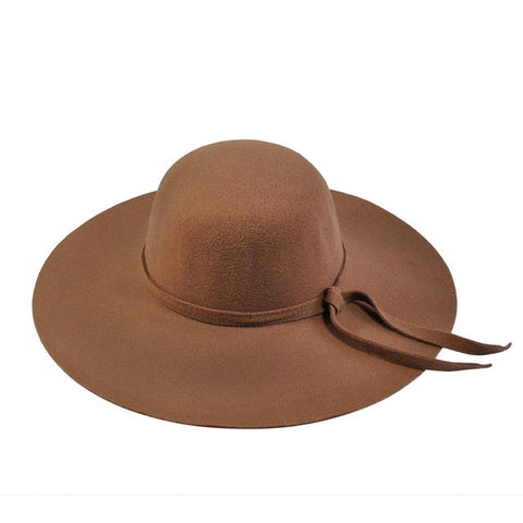 Women's Sun Hat with waved brim and tissue belt