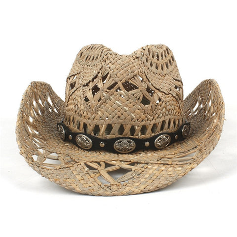 Natural Straw Bohemian Rodeo Hat