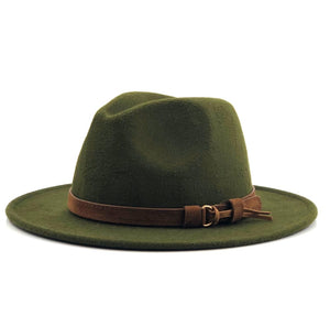 Fedora Hat With Leather Ribbon