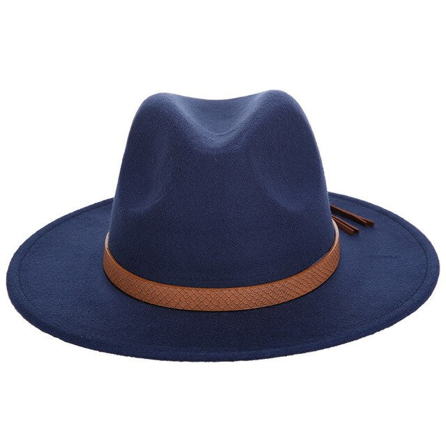 Classic Fedora with snake vintage strap