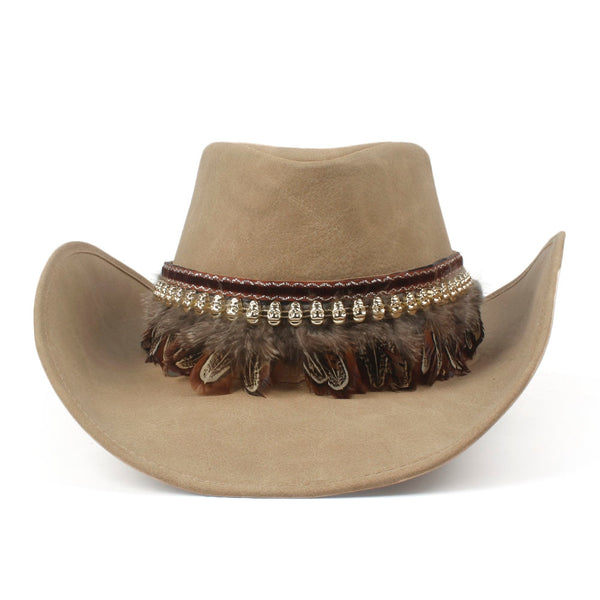 Leather Western Cowboy Hat
