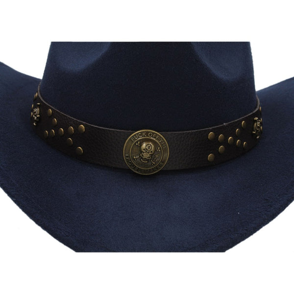 Classic Cowboy Hat with Steampunk strap (9 colors)