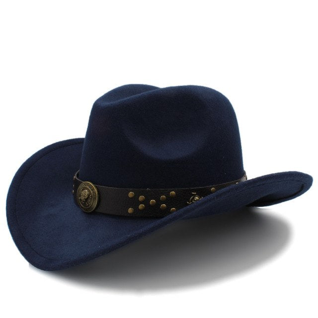 Classic Cowboy Hat with Steampunk strap