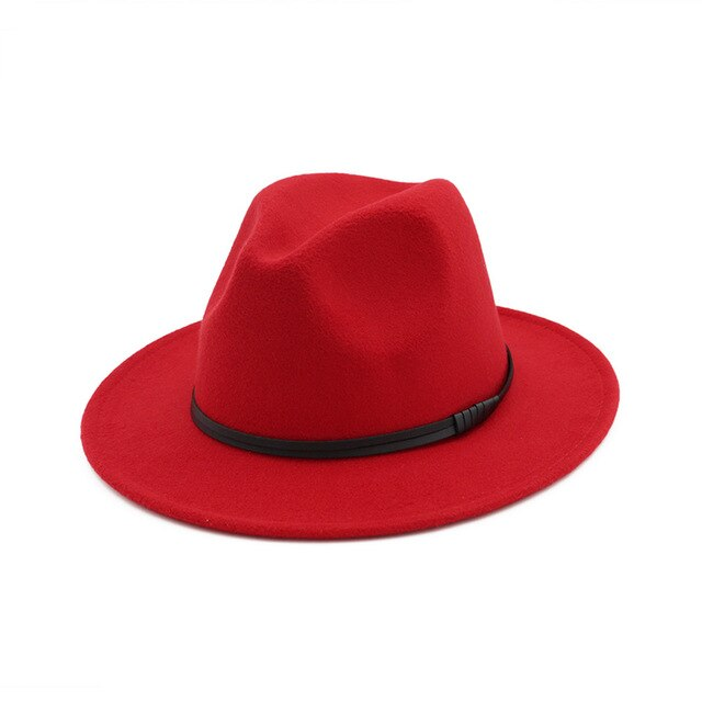 Fedora with minimal leather strap