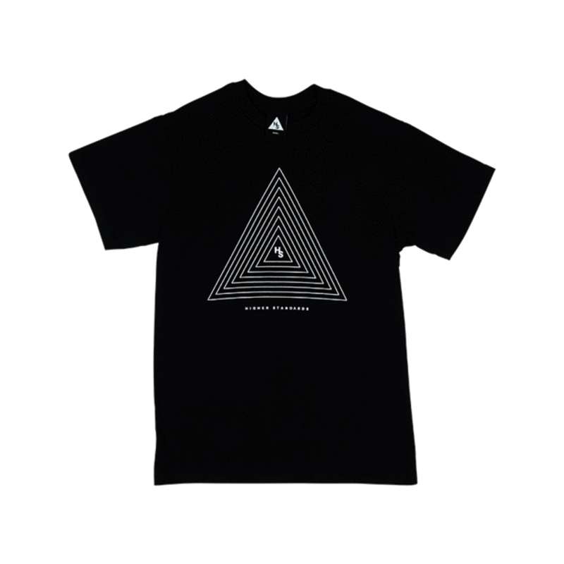 Higher Standards T-Shirt - Concentric Triangle-Blazed Vapes
