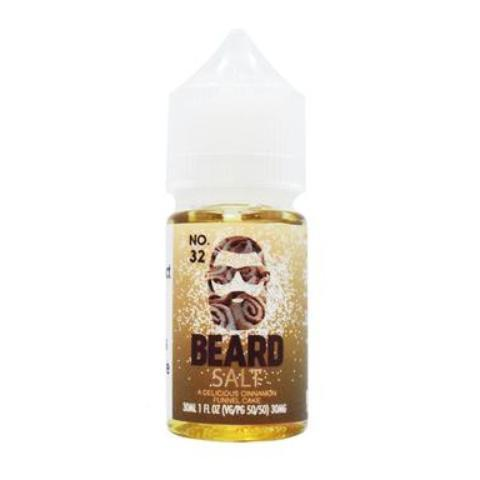 Beard Vape Co Salts No. 32 Cinnamon Funnel Cake 30ml Nic Salt Vape Juice-Blazed Vapes