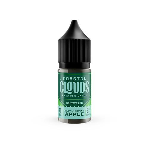 Coastal Clouds Saltwater Apple 30ml Nic Salt Vape Juice-Blazed Vapes