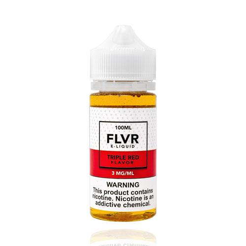 FLVR Triple Red 100ml Vape Juice-Blazed Vapes