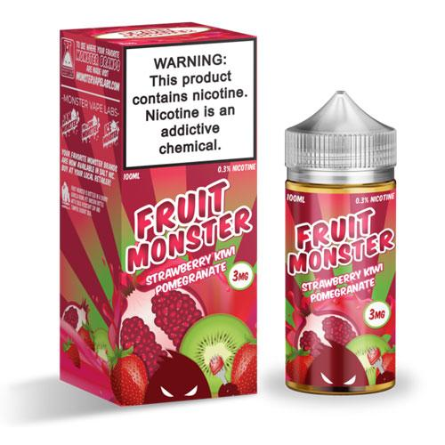 Fruit Monster Strawberry Kiwi Pomegranate 100ml Vape Juice-Blazed Vapes