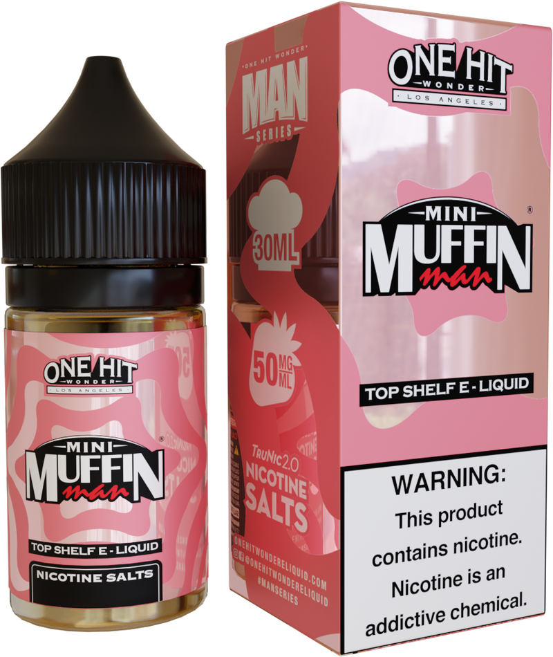 One Hit Wonder Mini Muffin Man 30ml Nic Salt Vape Juice-Blazed Vapes