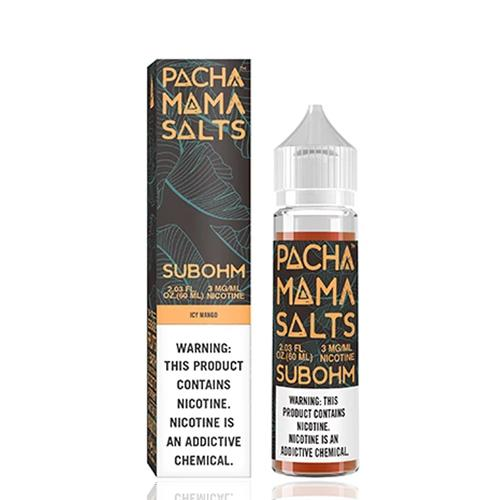 Pachamama Subohm Salts Icy Mango 60ml Vape Juice-Blazed Vapes