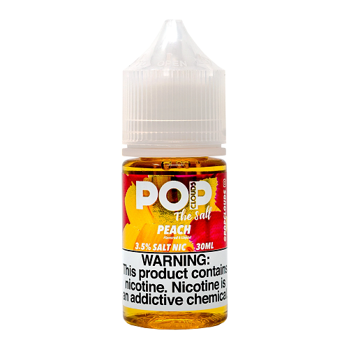 Pop Clouds Peach 30ml Nic Salt Vape Juice-Blazed Vapes