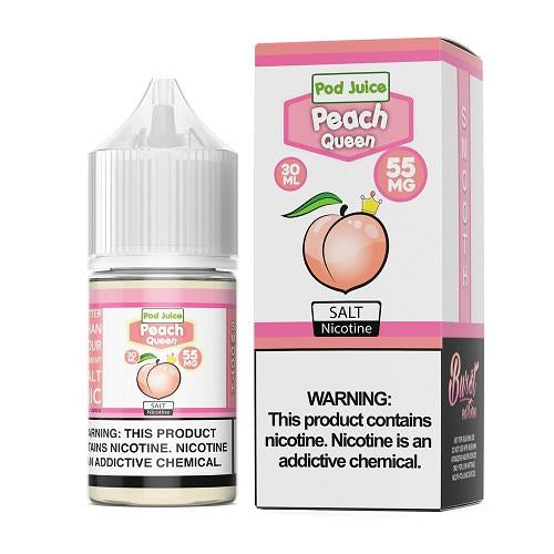 Pod Juice Peach Queen 30ml Nic Salt Vape Juice-Blazed Vapes