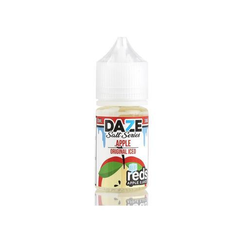7 Daze Reds Salts Apple ICED 30ml Nic Salt Vape Juice-Blazed Vapes