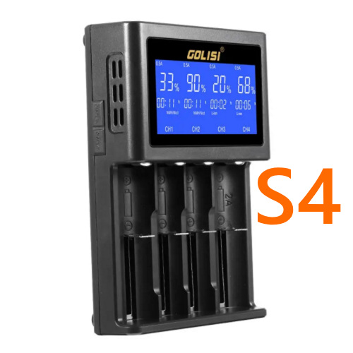 GOLISI S4 Battery Charger-Blazed Vapes