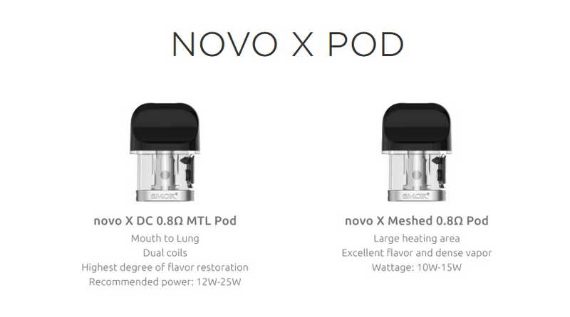 SMOK Novo X Replacement Pods (Pack of 3)