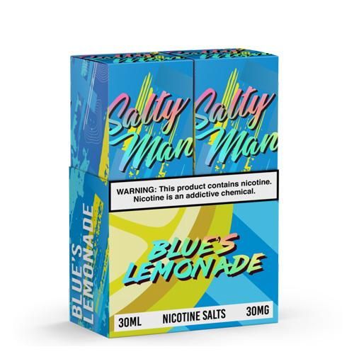 Salty Man Twin Pack Blue's Lemonade 2x30ml Nic Salt Vape Juice-Blazed Vapes