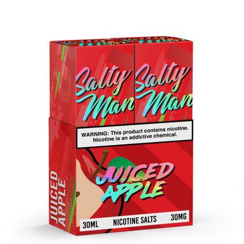 Salty Man Twin Pack Juiced Apple 2x30ml Nic Salt Vape Juice-Blazed Vapes