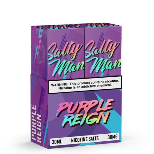 Salty Man Twin Pack Purple Reign 2x30ml Nic Salt Vape Juice-Blazed Vapes