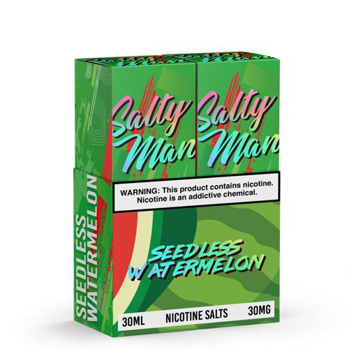 Salty Man Twin Pack Seedless Watermelon 2x30ml Nic Salt Vape Juice-Blazed Vapes
