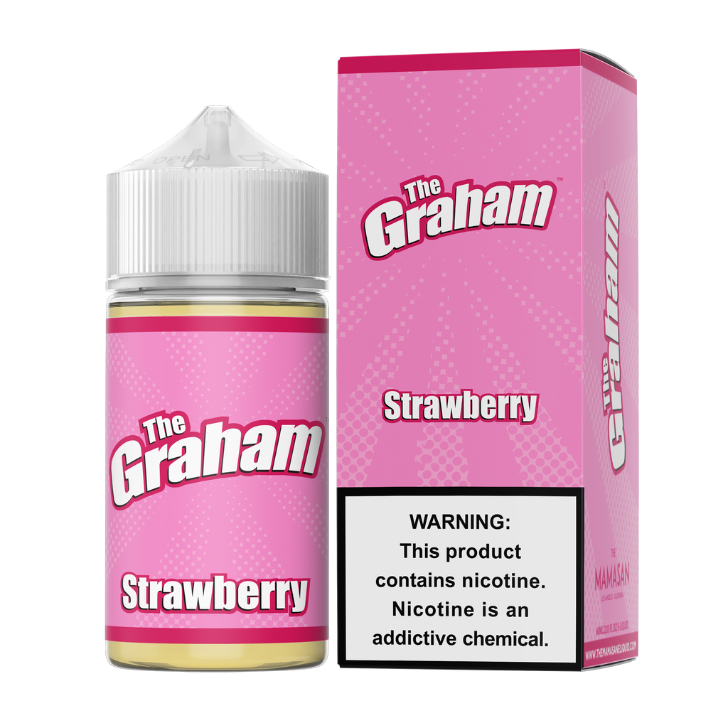 Strawberry 60ml Vape Juice - The Graham-Blazed Vapes