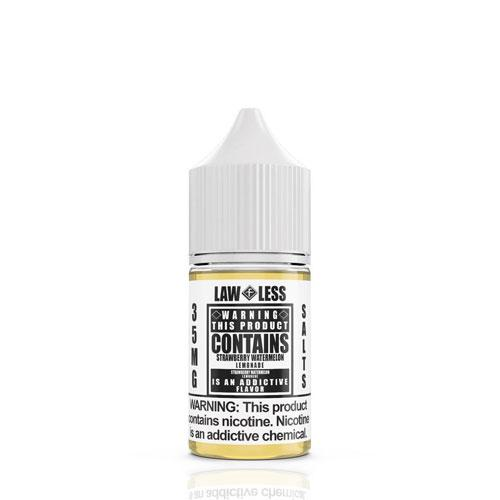 Warning Salts Strawberry Watermelon Lemonade 30ml Nic Salt Vape Juice-Blazed Vapes