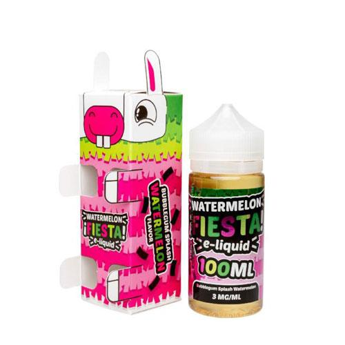 Watermelon Fiesta Bubblegum Splash Watermelon 100ml Vape Juice-Blazed Vapes