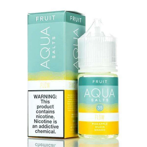 Aqua Synthetic Nicotine Flow 30ml Nic Salt Vape Juice-Blazed Vapes