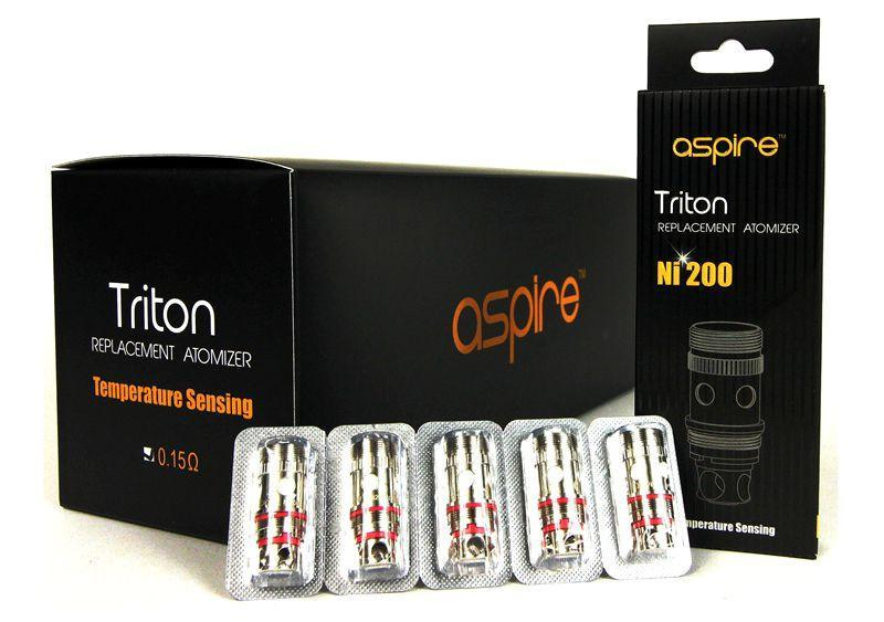 Aspire Triton NI200 Temperature Sensing Coil Heads (Pack of 5)-Blazed Vapes