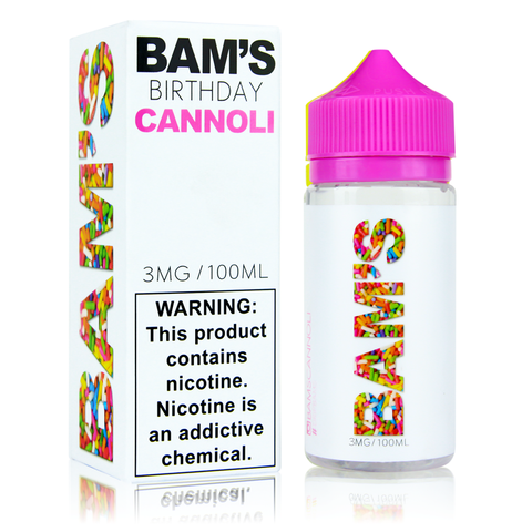 Bam's Birthday Cannoli 100ml Vape Juice-Blazed Vapes