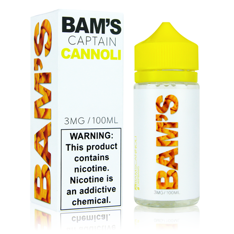 Bam's Captain Cannoli 100ml Vape Juice-Blazed Vapes