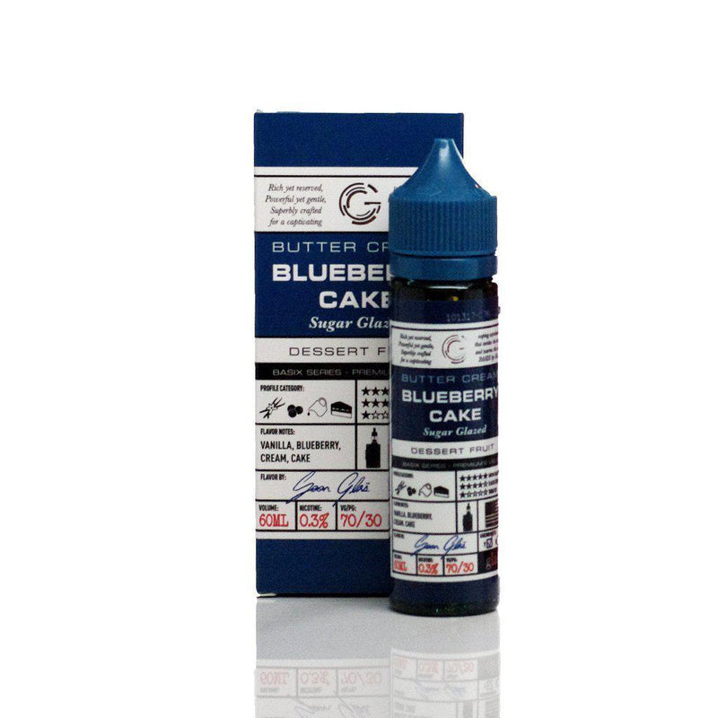 Basix Series by Glas Vapors - Blueberry Cake Vape Juice (60mL)-Blazed Vapes
