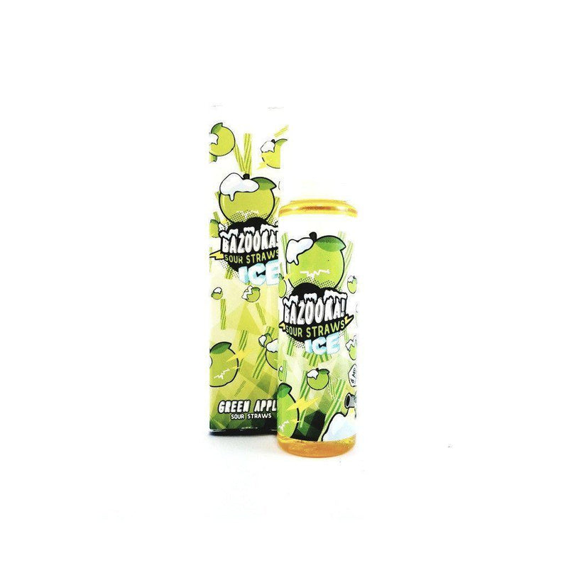 Bazooka Sour Straws Green Apple ICE 60ml Vape Juice-Blazed Vapes