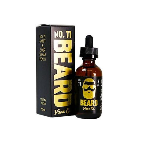 Beard Vape Co No. 71 - Sweet & Sour Sugar Peach (120ml)-Blazed Vapes
