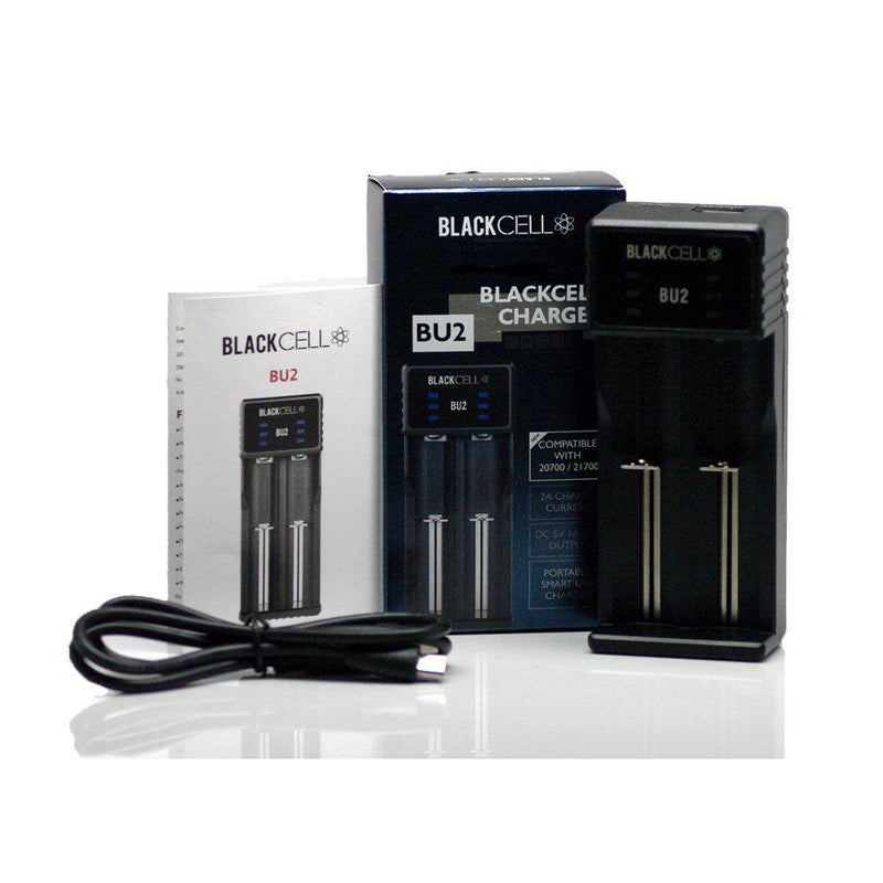 Blackcell BU2 Battery Charger - 2 Bay-Blazed Vapes