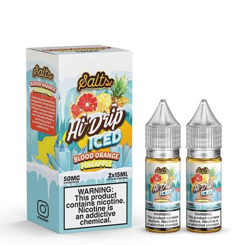 Hi-Drip Salts Blood Orange Pineapple Iced 30ml Nic Salt Vape Juice-Blazed Vapes