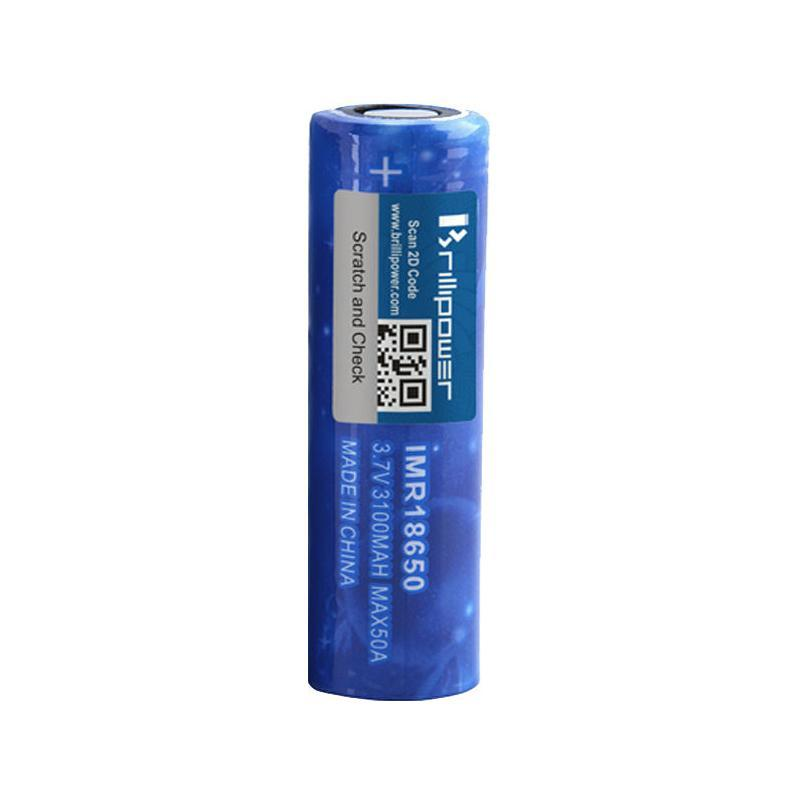 Brillipower 18650 50A 3100mAh High Drain Battery (Blue Brillipower)-Blazed Vapes
