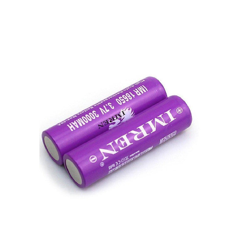 IMREN 18650 3.7V 3000mAh Battery 40 AMP (Pair)-Blazed Vapes